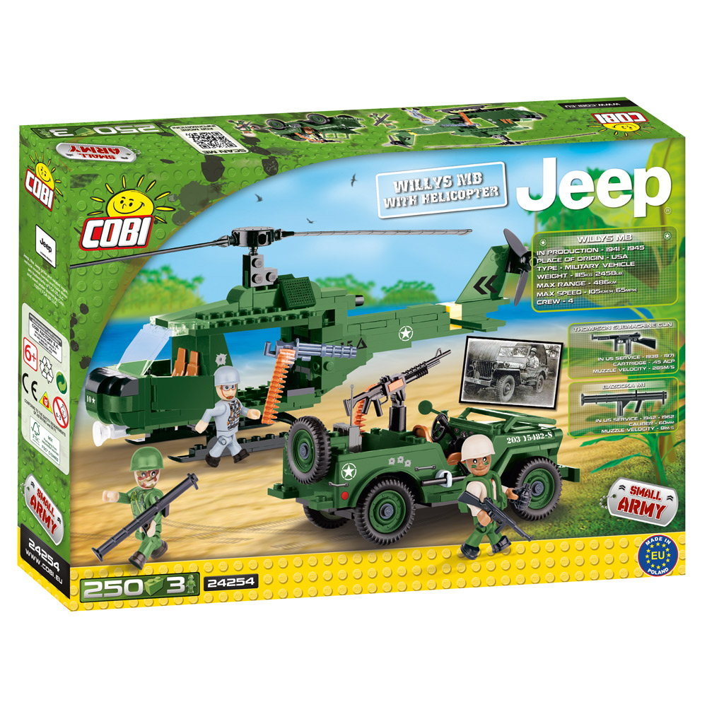 Jeep Willis MB with Helicopter
