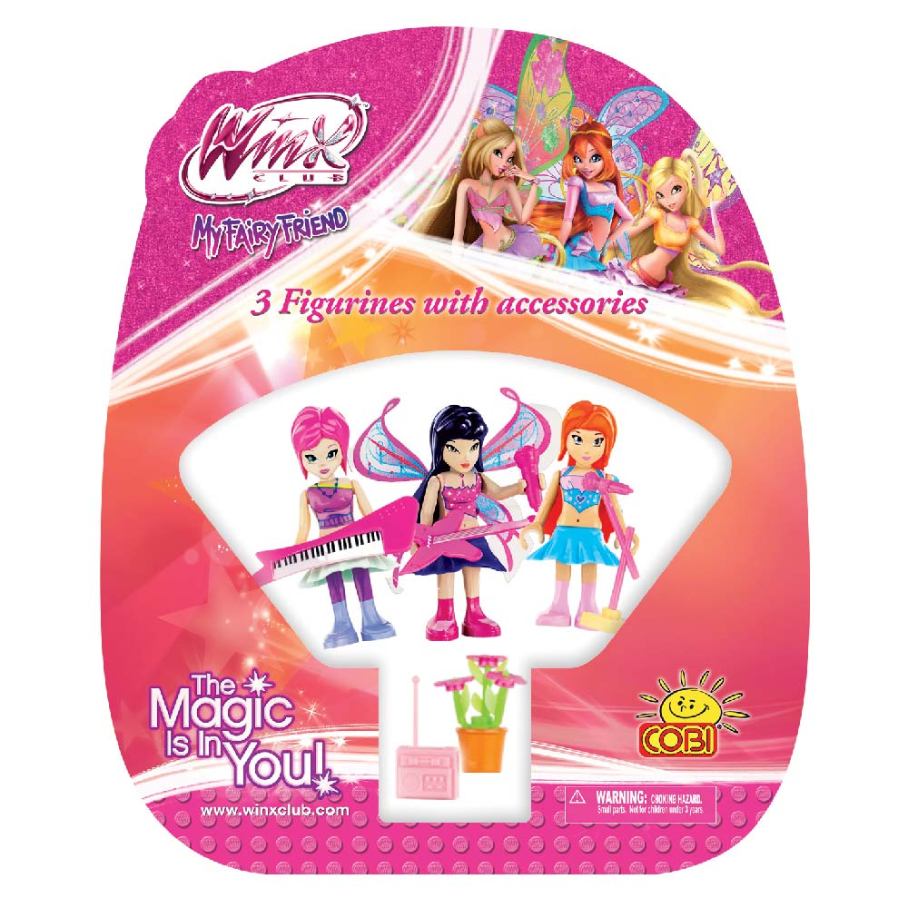 3 Figurines with Accessories Winx