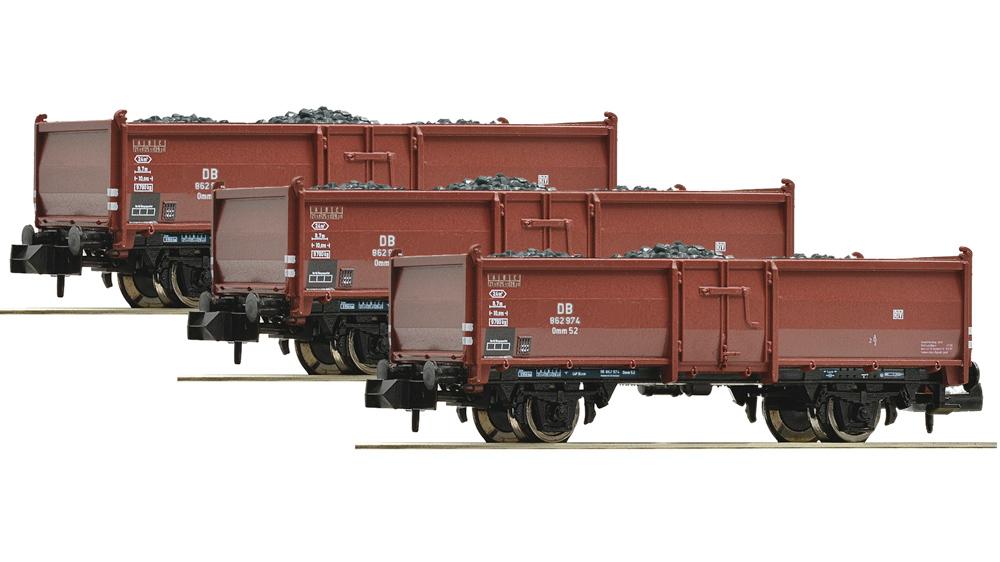 Vagoane Transport Carbuni, Tip Omm52, DB, Set 3 piese