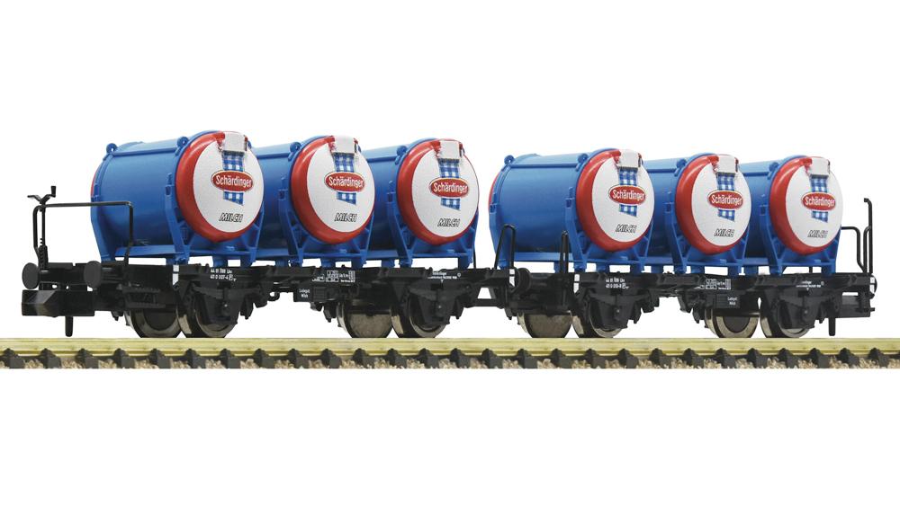 Vagoane pentru transportul laptelui Schardinger, OBB, Set 2 piese