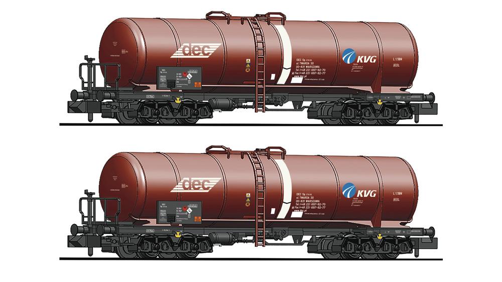 Set 2 piese: Vagoane cisterna, PKP
