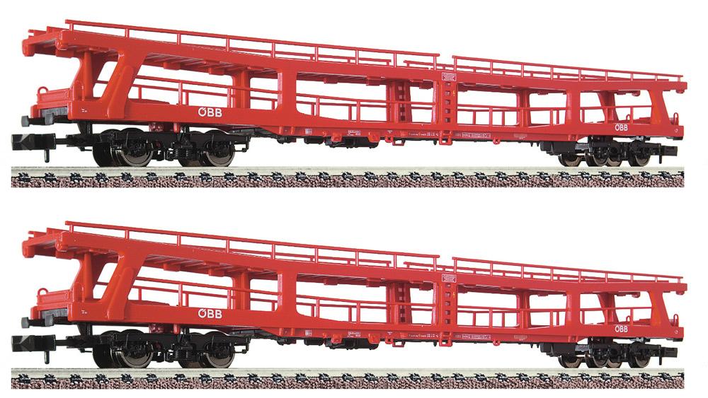 Set 2 piese: Vagoane transport autoturisme pentru trenuri de pasageri, ÖBB