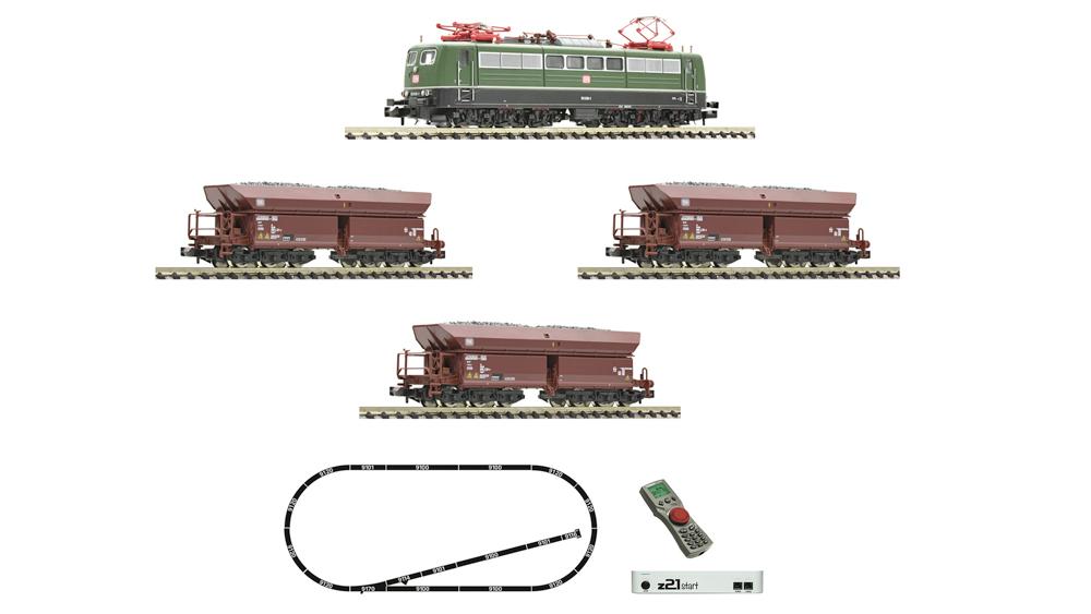 Locomotiva electrica clasa 151 si tren de marfa, DB, Set de start digital cu z21