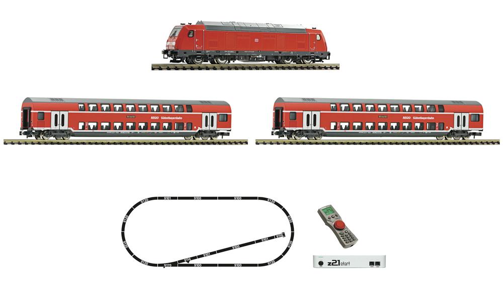 Locomotiva diesel clasa 245 si tren de pasageri, DB AG, Set de start digital cu z21