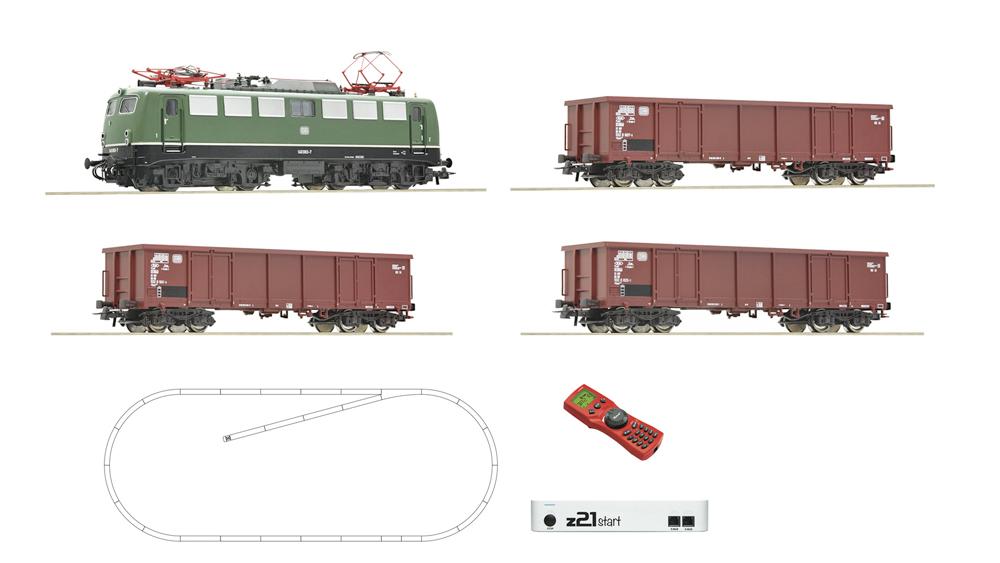 Locomotiva electrica clasa 140 si vagon de marfa, DB, cu z21 digital