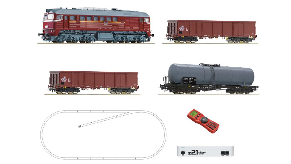 Locomotiva Diesel Clasa 120 cu Vagoane de Marfa, DR, cu z21, digital
