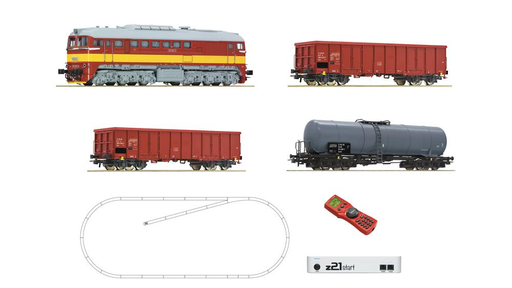 Locomotiva diesel clasa T679.1 cu vagoane de marfa, CSD, cu z21, digital