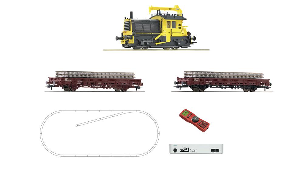 Locomotiva diesel Sik cu vagoane de intretinere a caii ferate, NS, cu z21, digital