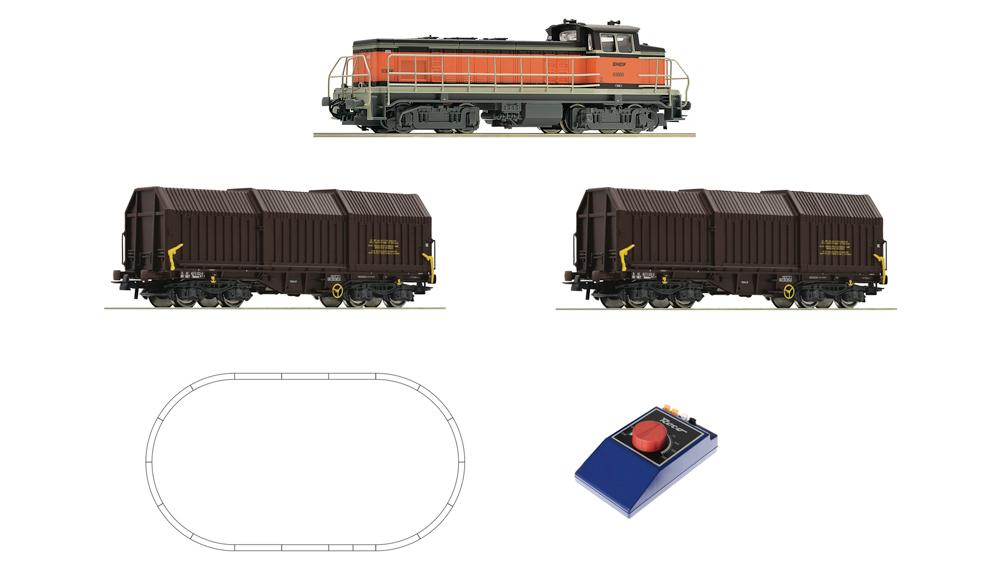 Locomotiva diesel BB 63000 cu vagon de marfa, SNCF, Analog
