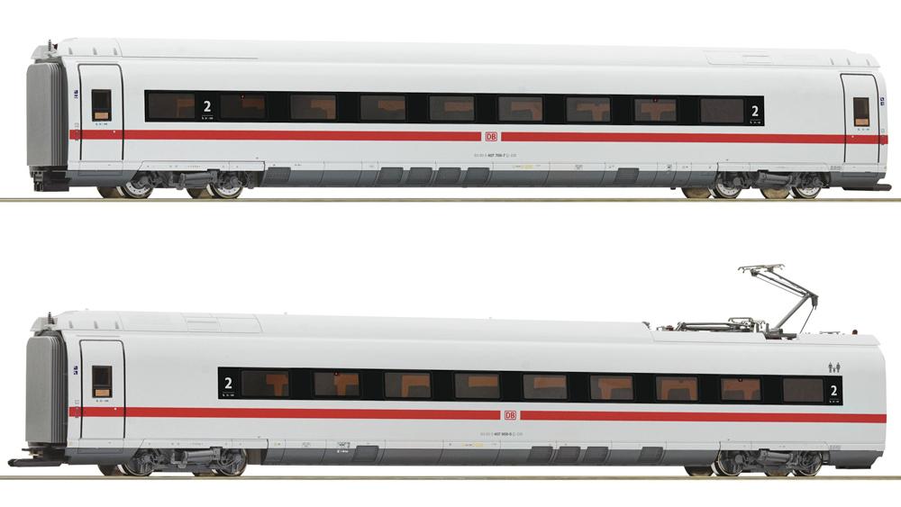 Vagoane intermediare clasa 407 (Set 2), DB AG, Set de 2 piese