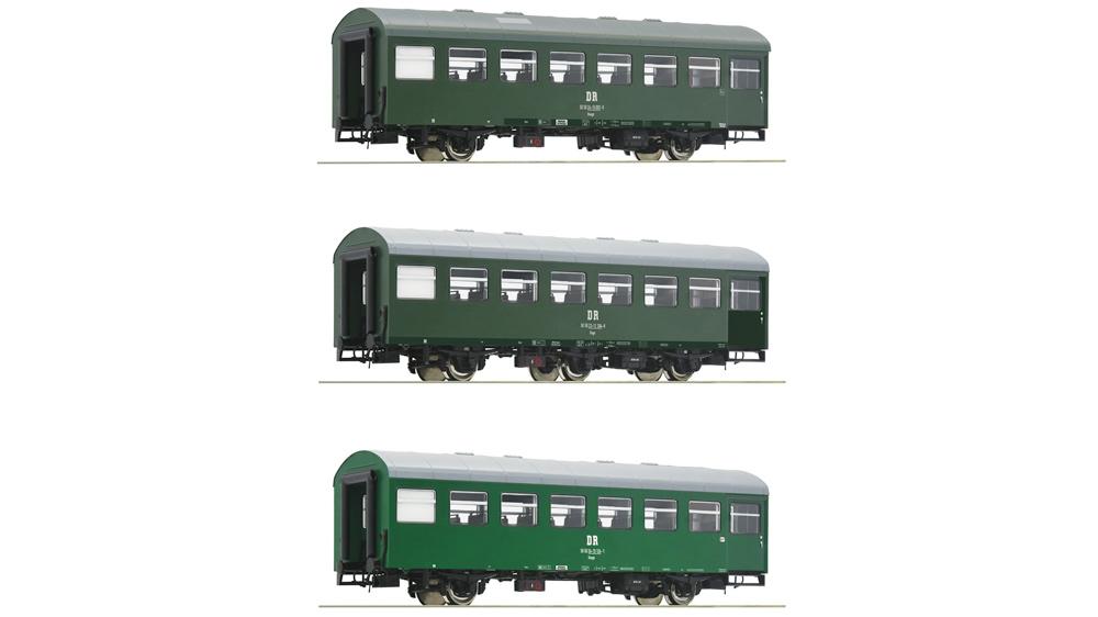 Vagon pasageri Rekowagon, DR (Set 2), Set de 3 piese