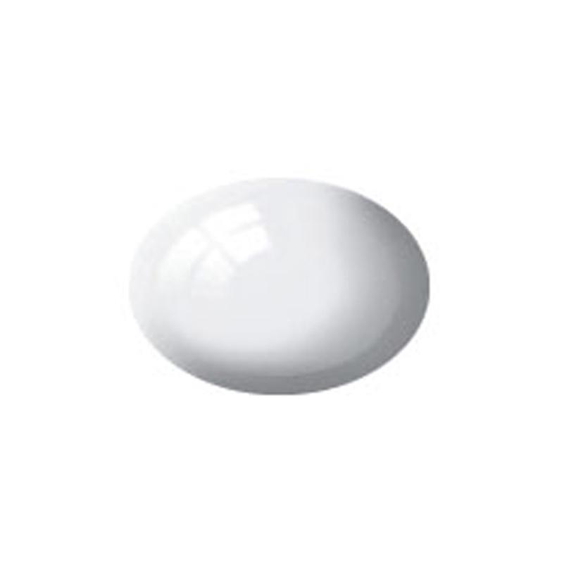 Aqua Color, White, Gloss, 18ml, RAL 9010