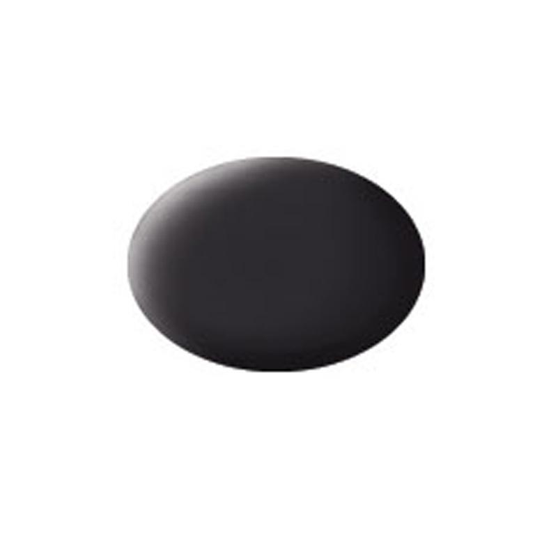 Aqua Color, Tar Black, Matt, 18ml
