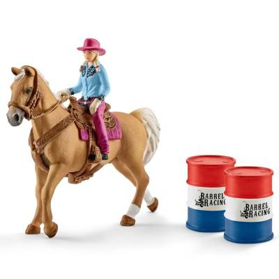 Cowgirl in cursa cu butoaie, SCHLEICH