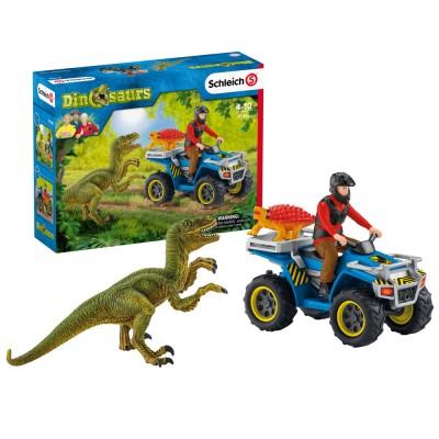 Fuga pe ATV pentru a scapa de velociraptor, SCHLEICH