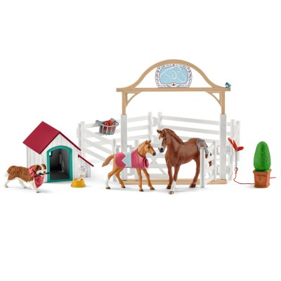 Caii Hannei (Horse Club) si catelusa Ruby, SCHLEICH